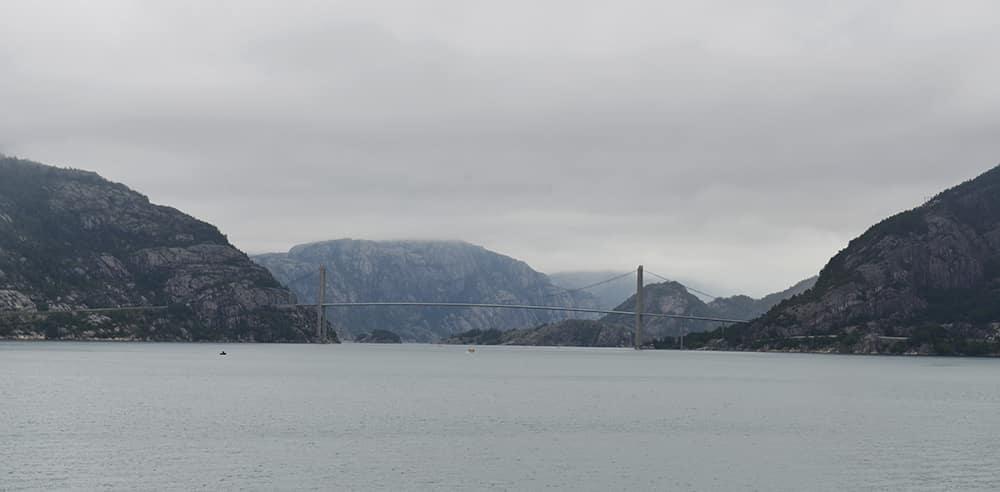 Utsikt fra Lauvvik mot Lysefjorden.