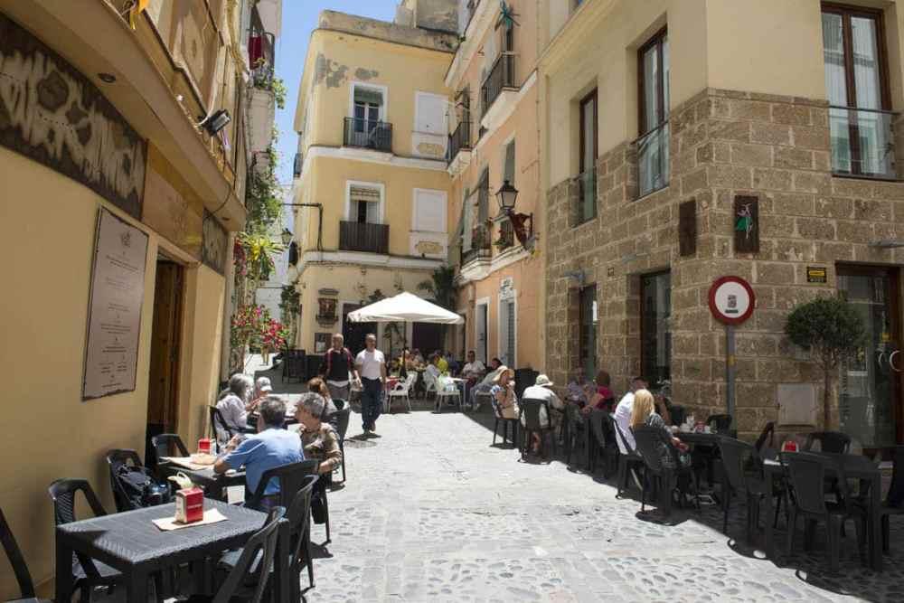 Gamlebyen i Cadiz