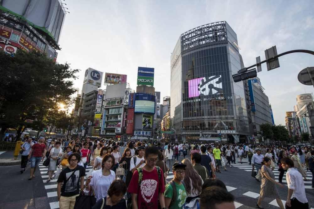 Shibuya-krysset i Tokyo