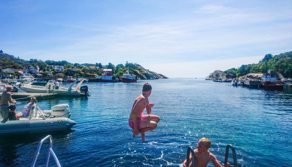 Et sommerbad i Ula i Vestfold