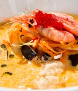 Fiskesuppe på restauranten Provianten i Mandal