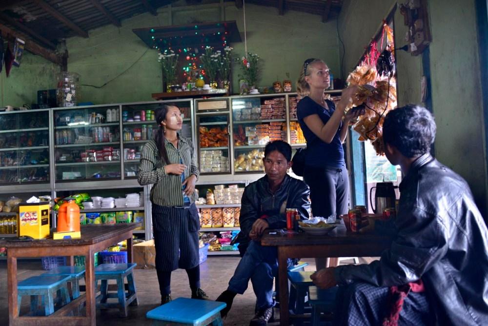 Butikk i Nanntine i Myanmar