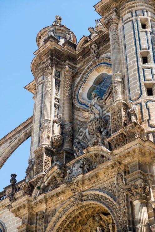 detalj på katedralen i Jerez de la Frontera
