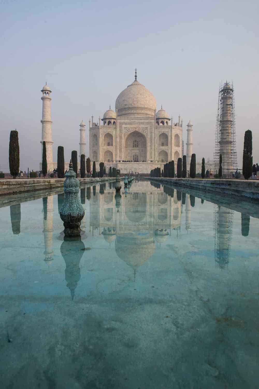 Vannspeilet foran Taj Mahal