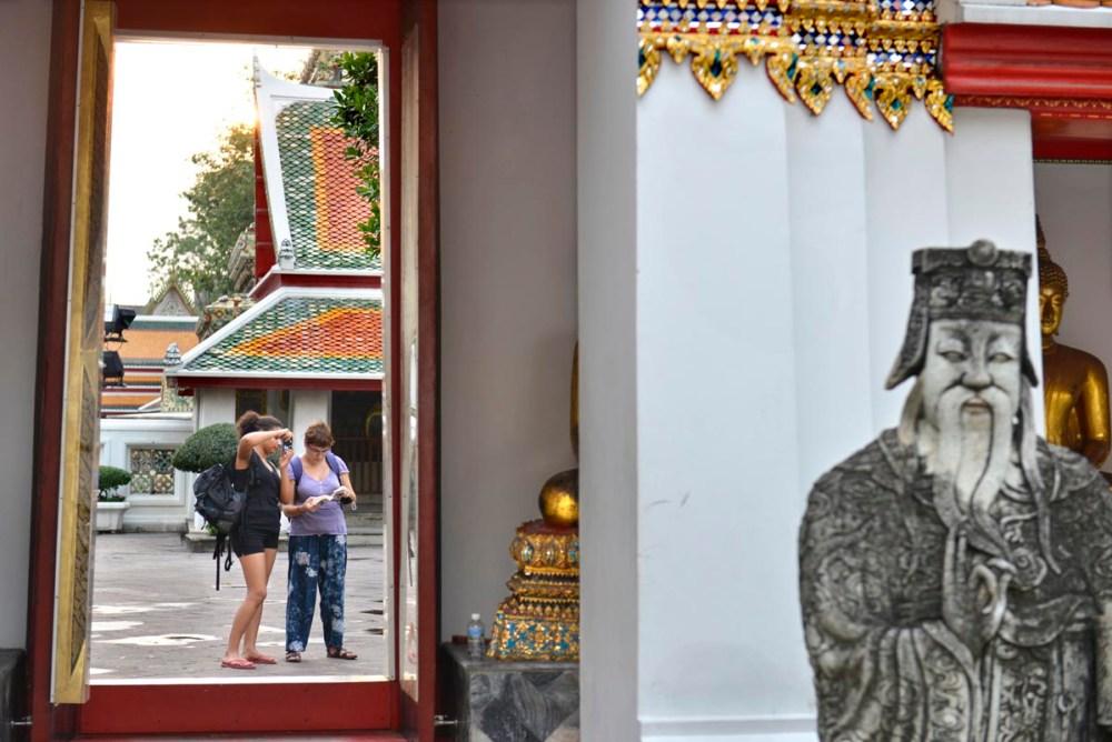 Kinesisk soldat i Wat Pho