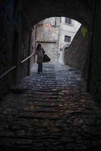 gamlebyen i Bolsena i Italia