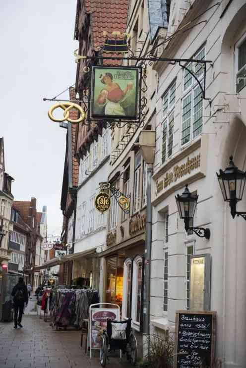 Detalj fra en av gatene i Lüneburg gamleby