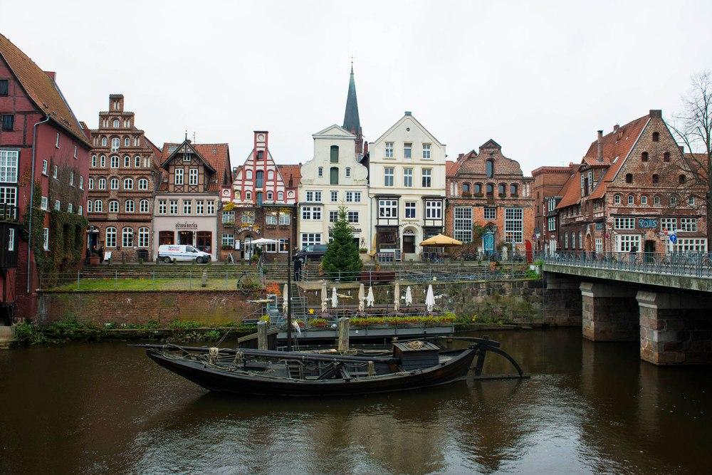 Havna i Lüneburg i Tyskland