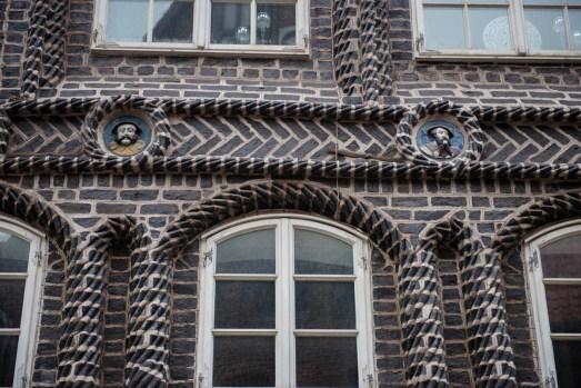 Fasade i hansabyen Lüneburg