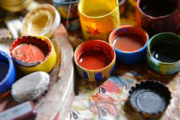 flaskekorker med maling