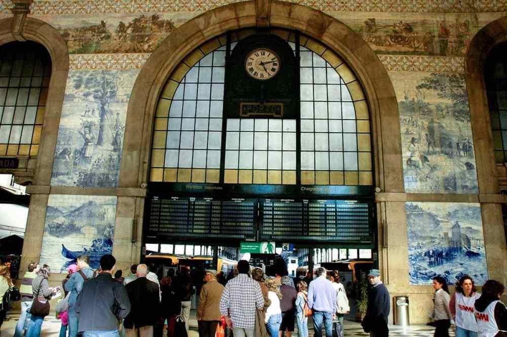 Jernbanestasjonen i Porto