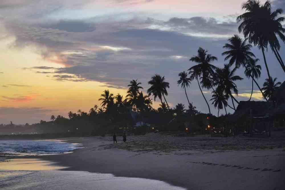 Strand i Tangalle på Sri Lanka