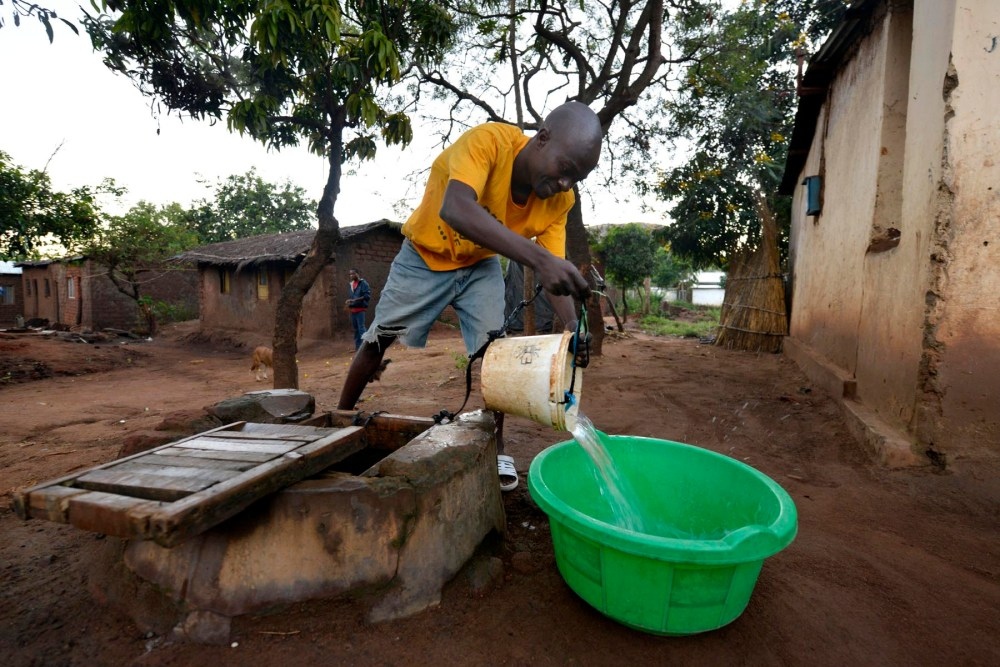 Brønn i Area 24 i Malawis hovedstad Lilongwe