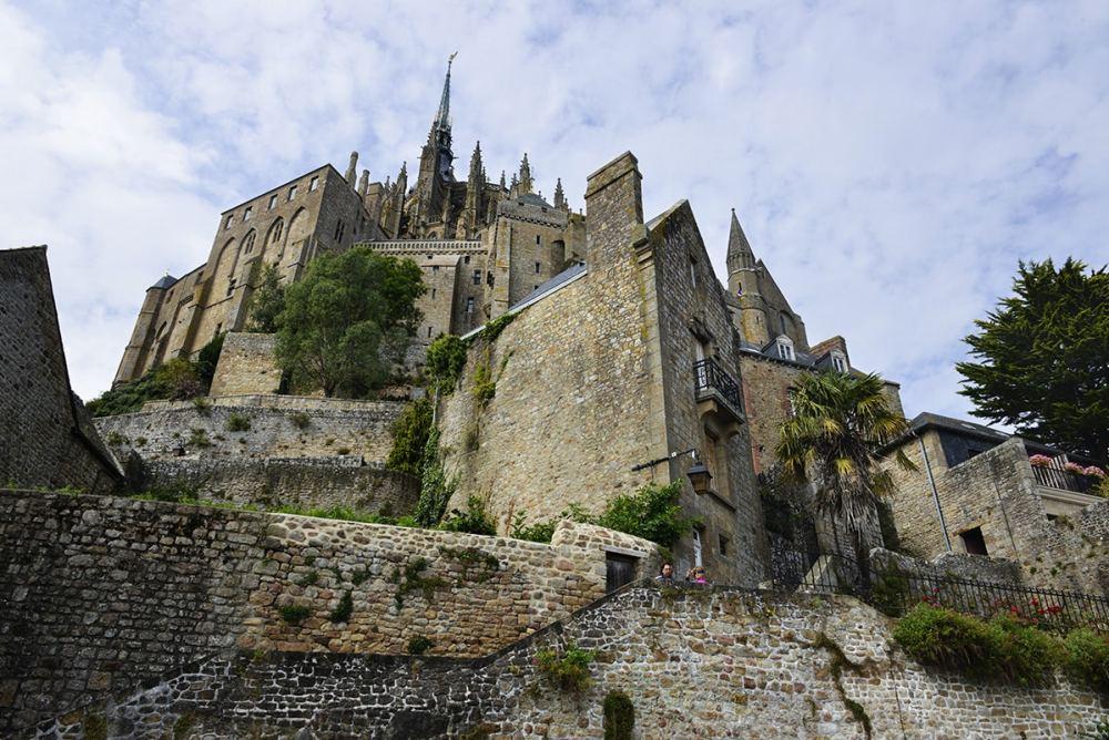 Mont-Saint-Michel fra gateplan