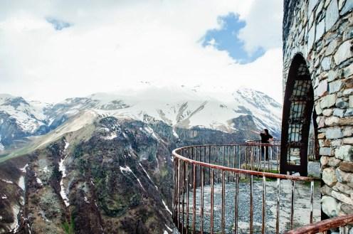 Utsikt over Kaukasus langs Georgian Military Highway