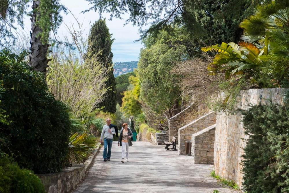 Castel Sainte Claire remarcable garden i Hyeres