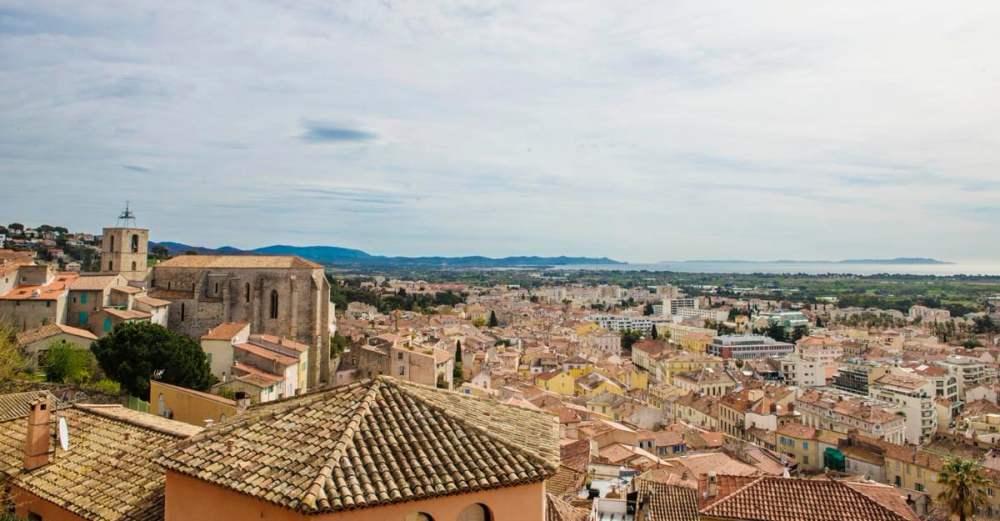 Utsikt over Hyères fra Castel Sainte Claire