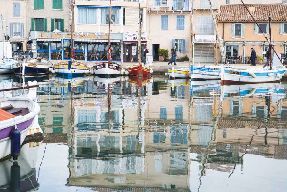 Havna i Sanary-sur-Mer i Var, Provence