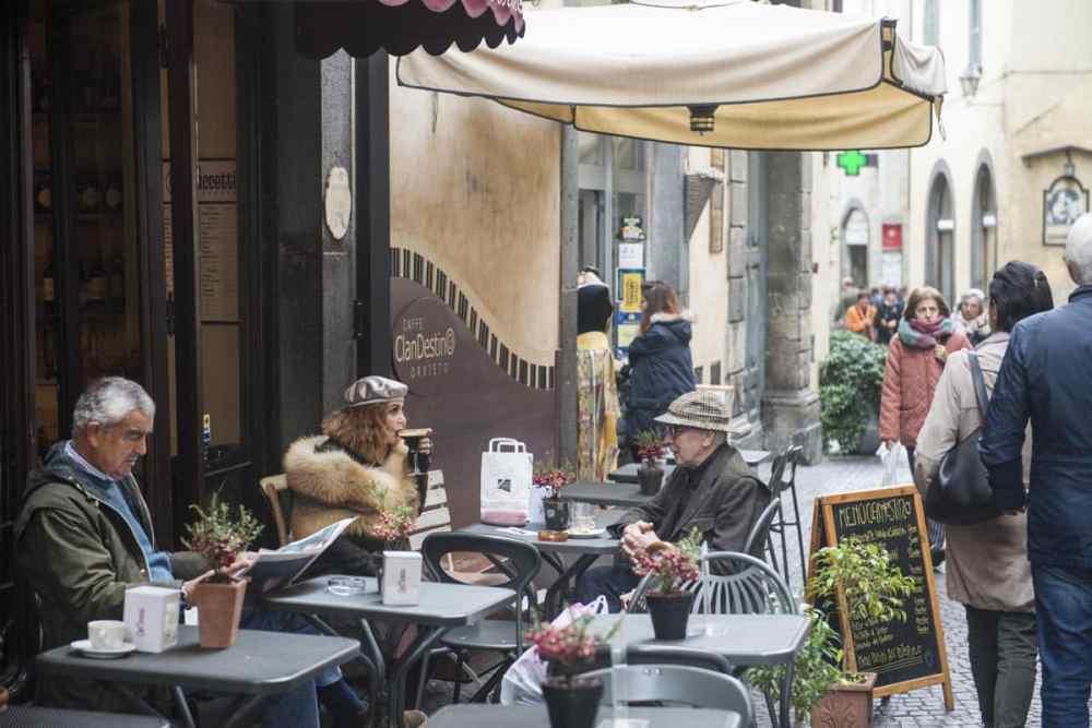 Kafé i Orvieto