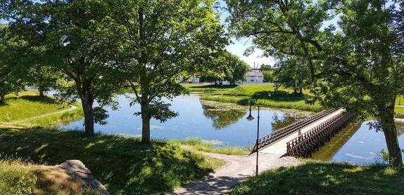 Vaterland port og vollgraven rundt Gamlebyen i Fredrikstad