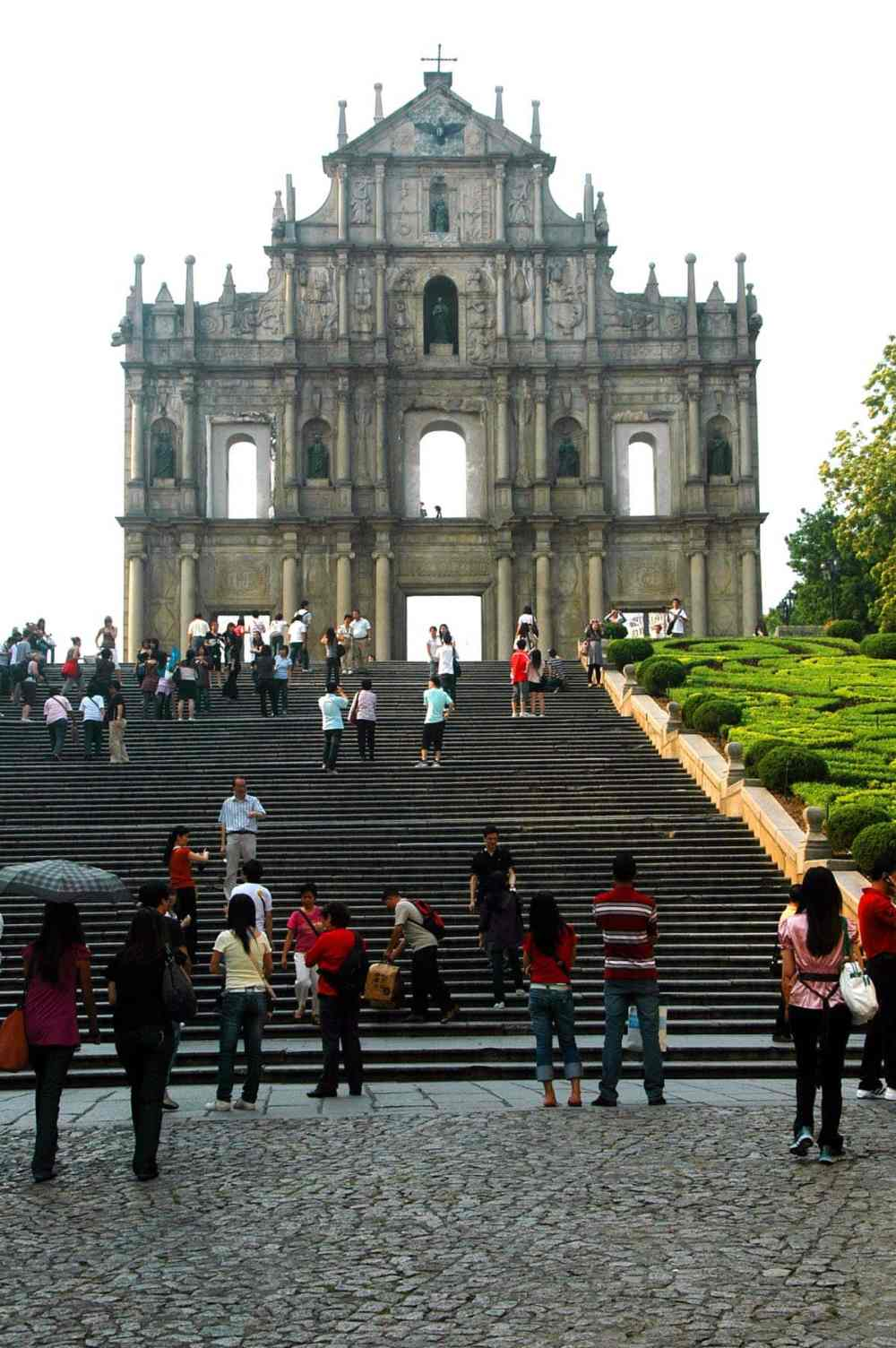 Fasaden til Pauluskatedralen i Macao.