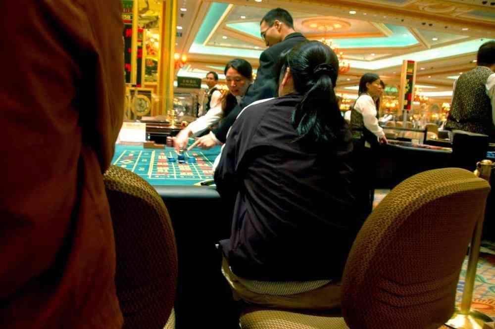 Spillebord i kasinoet Venetian i Macao