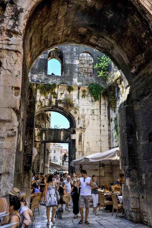 Gamlebyen i Split i Kroatia