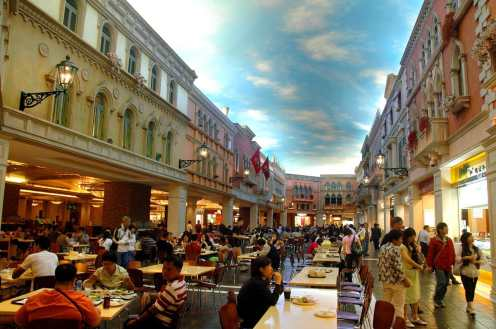 Restauranter inne i kasinoet Venetian Macau