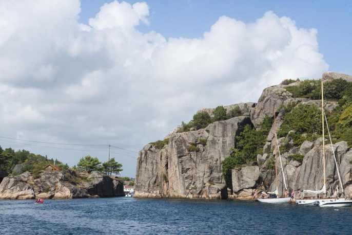 Innseiling til Olavsundet i Ny-Hellesund
