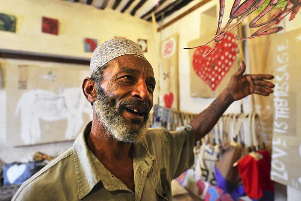 Suvenirbutikk på den kenyanske øya Lamu