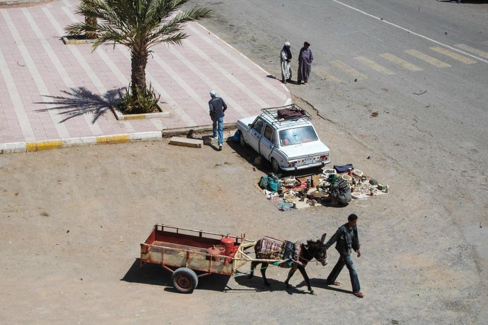 Marked i Agdz i Marokko