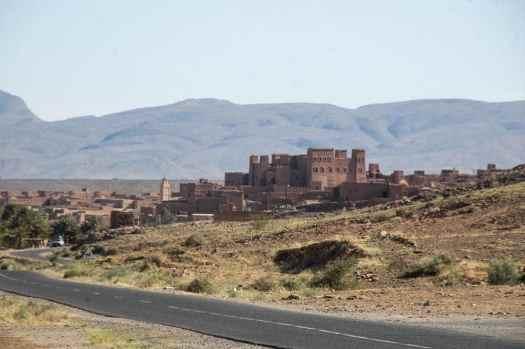 Kasbah i Draa-dalen i Marokko
