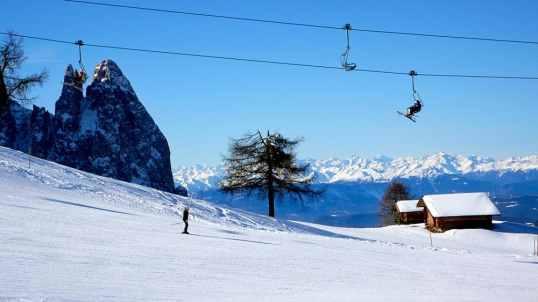 Alpinbakke i Seiser Alm