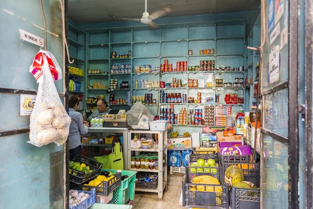Butikk i Valletta på Malta