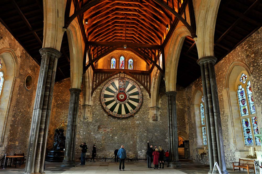 Det runde bordet i The Great Hall i Winchester