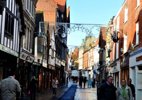 High Street i Winchester i England