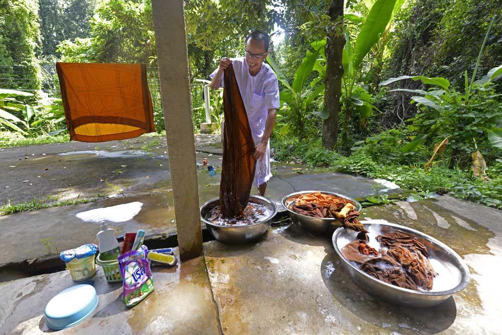 Klesvask i Wat Marp Jan