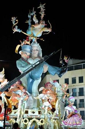 Statue på festivalen Fallas i Valencia