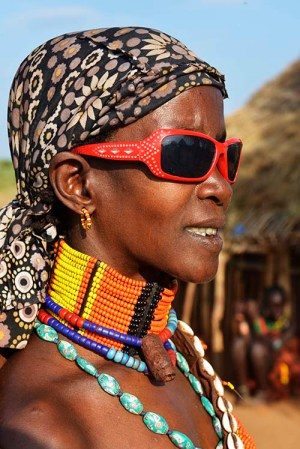 Hamer-kvinne i Etiopia