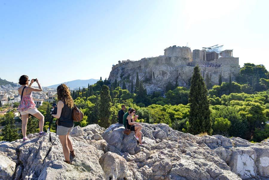 Utsikt mot Akropolis fra Areopagus