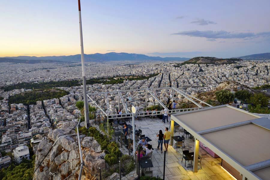 Athen sett fra utsiktspunktet Lykabettos