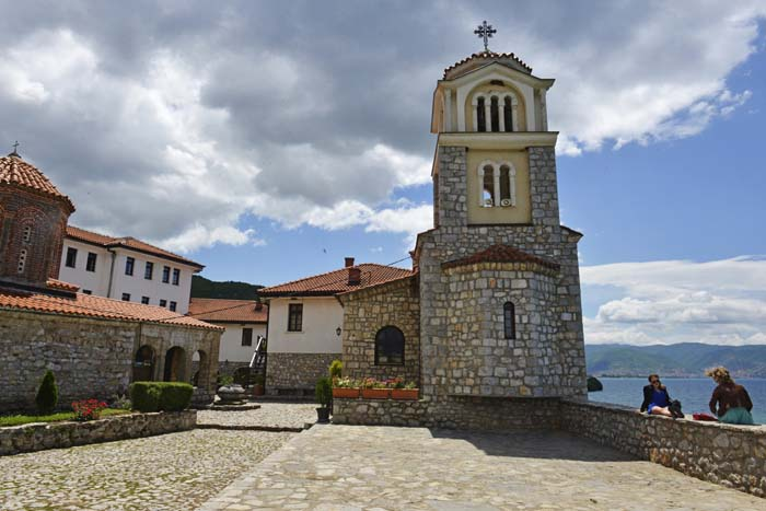 Utenfor klosteret Sveti Naum i Makedonia