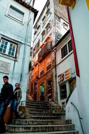 Trapper i gamlebyen i Coimbra