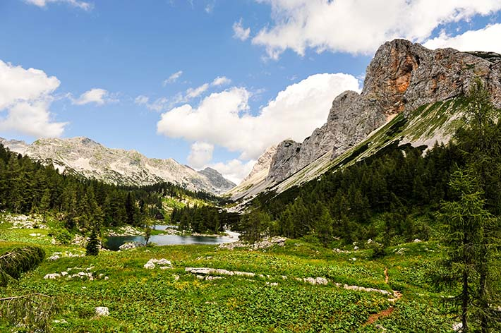 Fjellandskap i de juliske alper i Slovenia