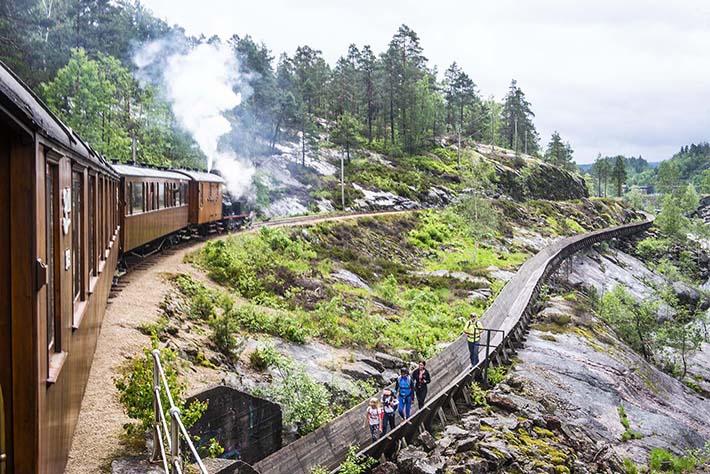 Setesdalsbanen og tømmerrenna i Vennesla
