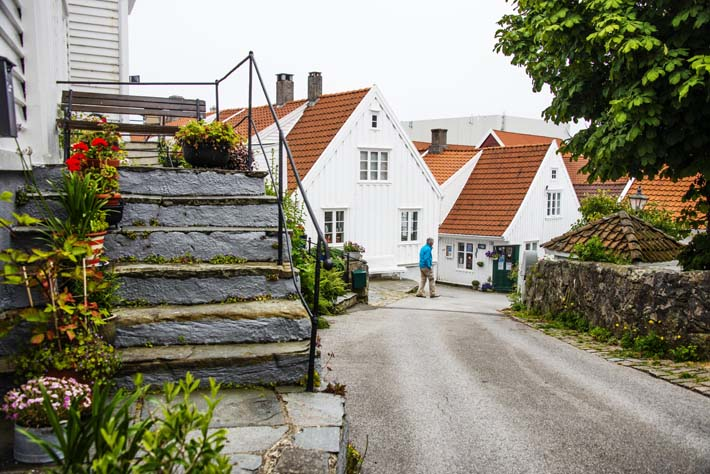 En gate i Skudeneshavn
