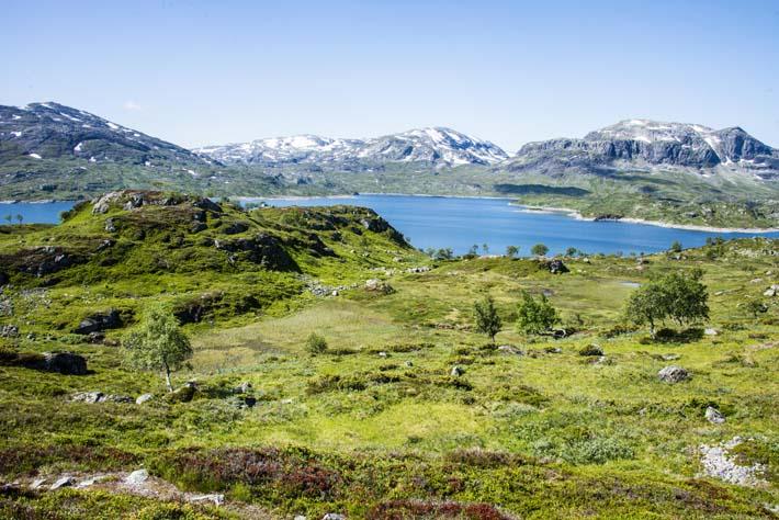 Kjelavatn på Haukelifjell sør på Hardangervidda