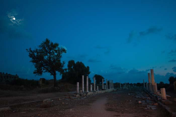 romerske ruiner i Side