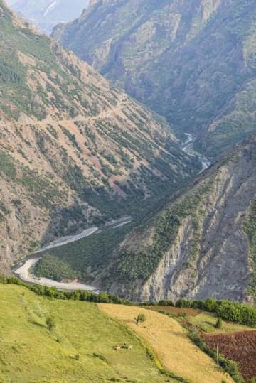 Devoll-dalen i Albania