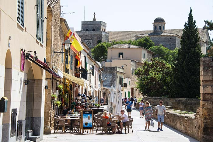 Uteservering i Alcudia på Mallorca
